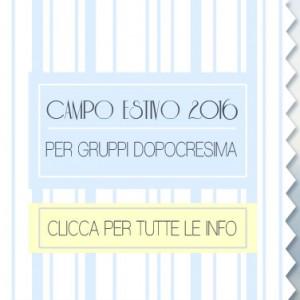 Campo Estivo 2016 – Gruppi postcresima