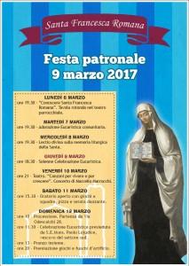 Programma della settimana dedicata a Santa Francesca Romana
